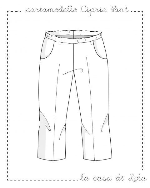 Cartamodello pantalone bambina